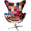 Fauteuil oeuf egg chair cocoon patchwork
