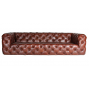 CANAPE CHESTERFIELD CUBE MARRON VINTAGE